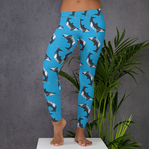ORCA WHALES WORKOUT LEGGINGS - Animal Spandex