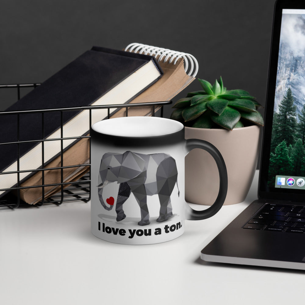 Black Magic Elephant Mug - Animal Spandex
