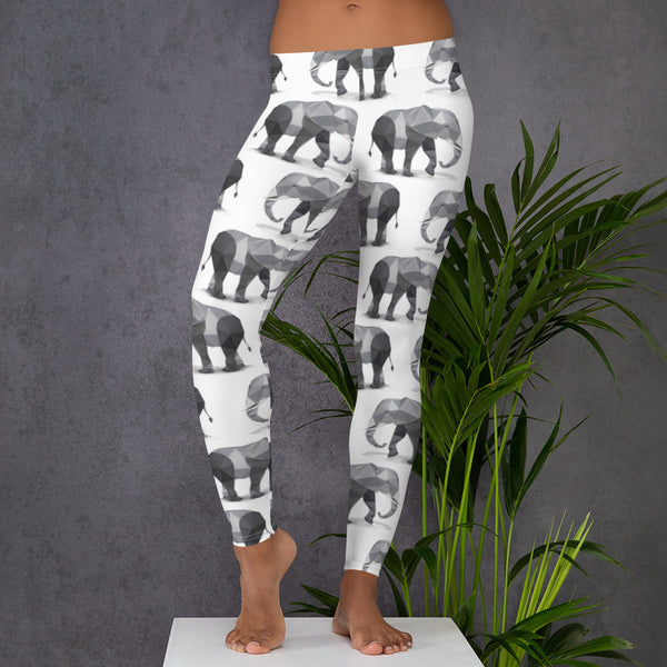 ELEPHANT (NO SLIP) WORKOUT LEGGINGS - Animal Spandex