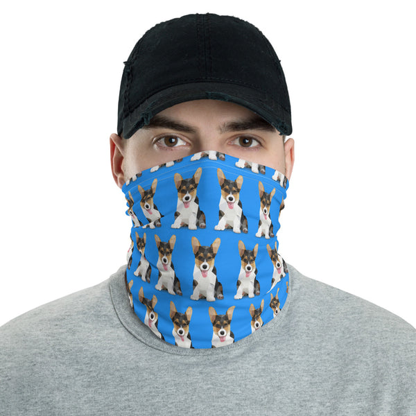 Corgi Face Shield Neck Gaitor Bandana - Men & Women - Animal Spandex