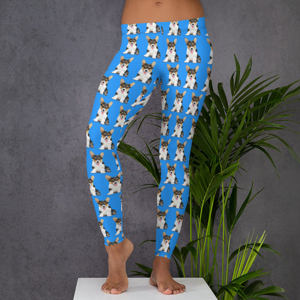 BLUE CORGI LEGGINGS - Animal Spandex