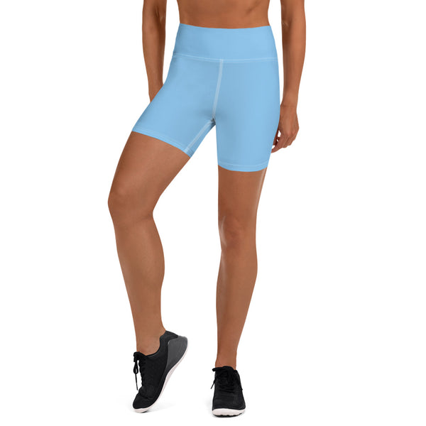 Sky Blue Yoga Shorts - Animal Spandex