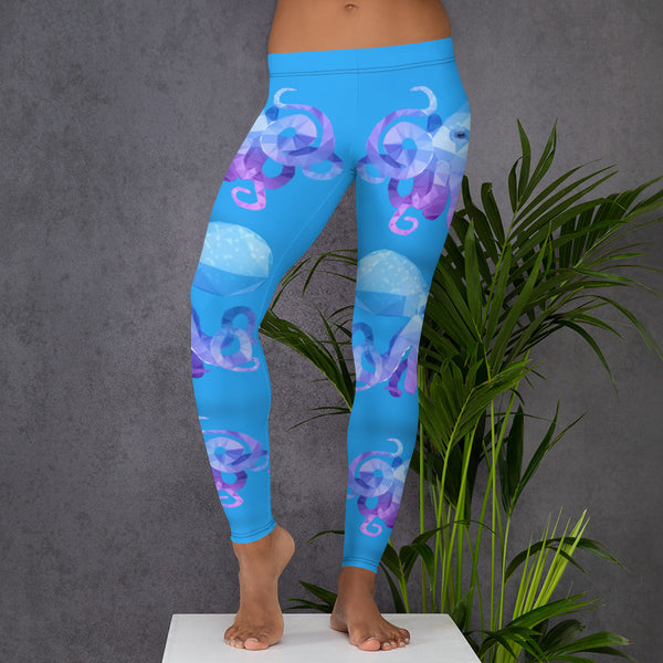 CARIBBEAN REEF OCTOPUS WORKOUT LEGGINGS - Animal Spandex