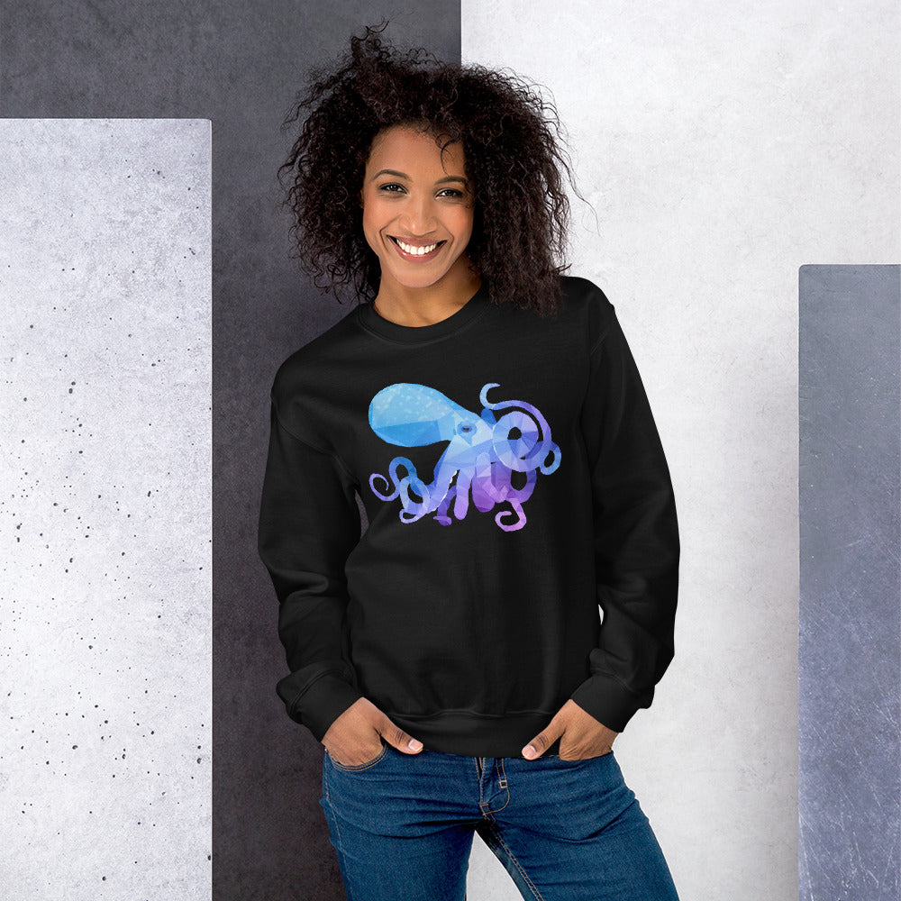 Unisex Caribbean Reef Octopus Long-sleeve Sweatshirt - Animal Spandex