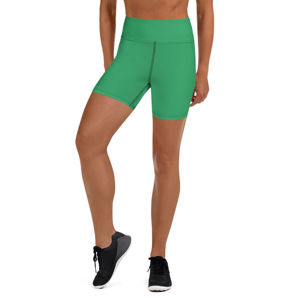 Green Yoga Shorts - Animal Spandex