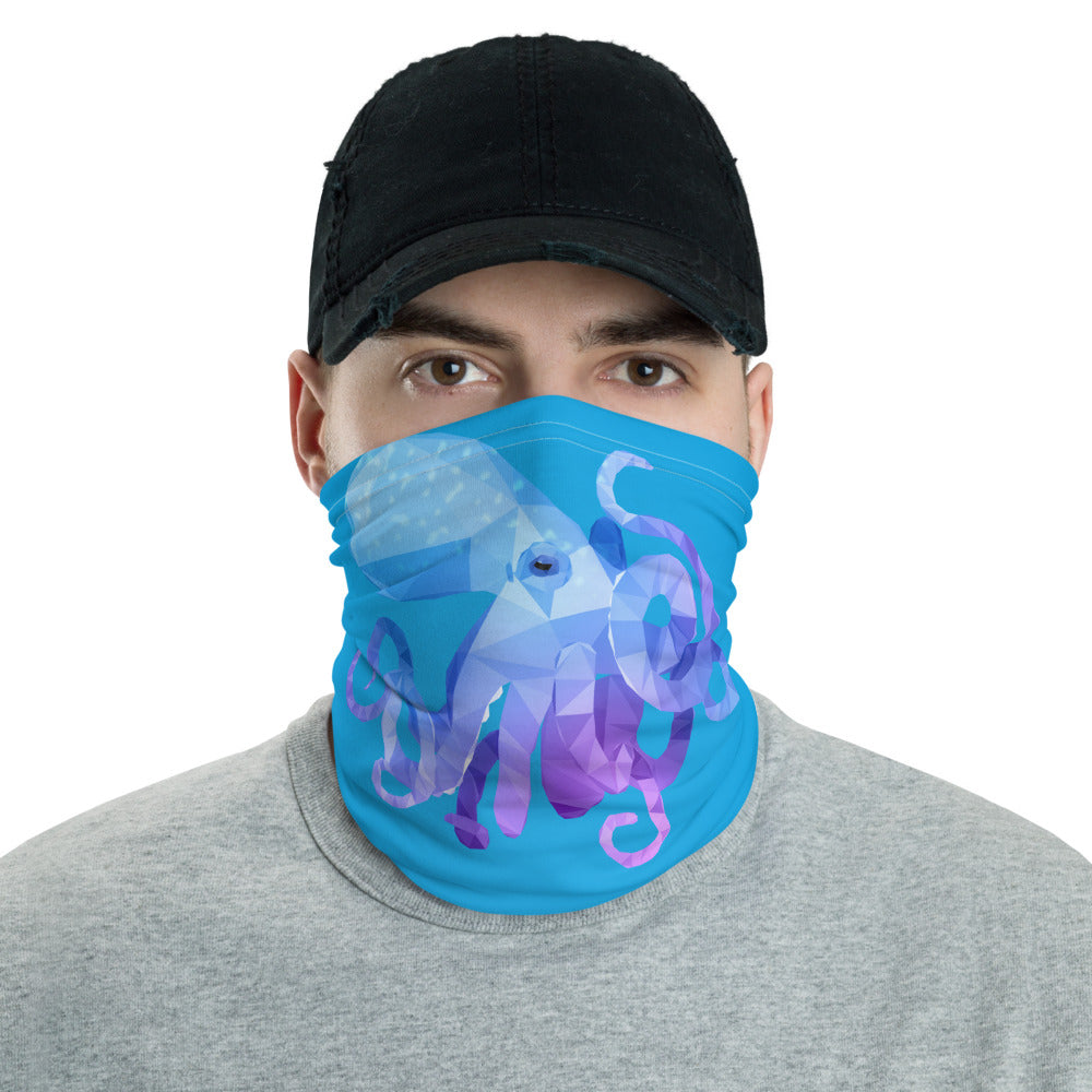 Octopus Animal Face Mask - For Adult Women and Men - Animal Spandex