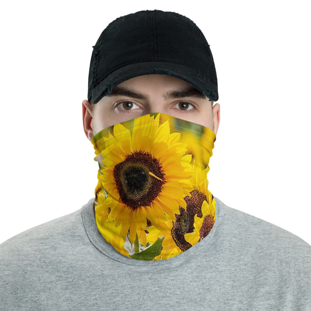Sun Flower Neck gaiter - Animal Spandex