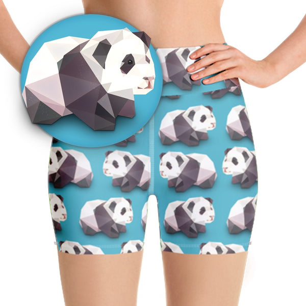 PANDA BEAR WORKOUT SHORTS - Animal Spandex