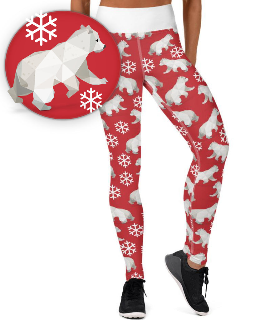 POLAR BEAR HOLIDAY WORKOUT LEGGINGS - Animal Spandex