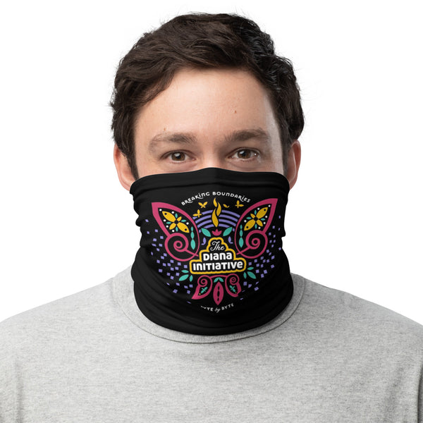 Personalized Diana Initiative Face Mask Neck Shield Gaitor Bandana ∙ For Men and Women ∙ Personalized Black White or Pattern - Animal Spandex