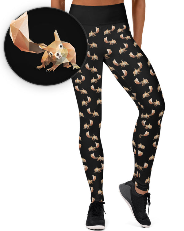 SQUIRREL ANIMAL WORKOUT LEGGINGS - Animal Spandex