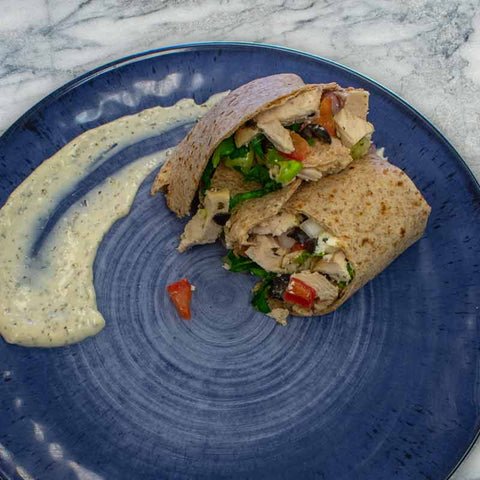 Greek Chicken Wrap - Prep'd Tulsa