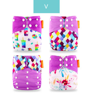 Open image in slideshow, Cute Washable Eco-Friendly Cloth Diaper