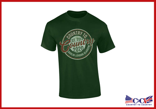 2020 Circle Logo Green Unisex T-Shirt