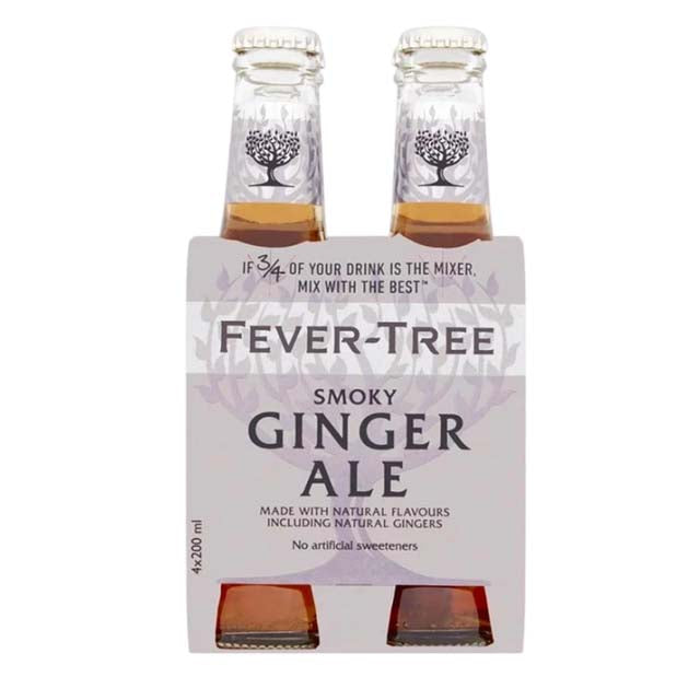 Fever-Tree Smoky Ginger Ale 4 x 200ml