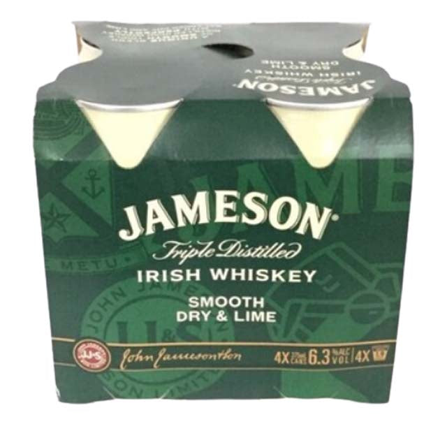 Jameson Smooth & Dry Lime RTD 4 x 375ml Cans
