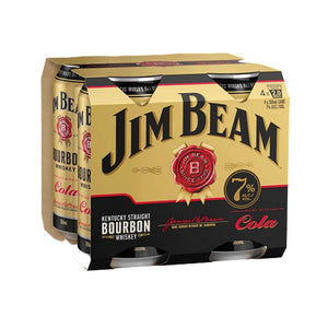 Jim Beam Gold 7% RTD 4 x 330ml Cans