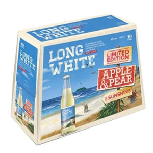 Long White Apple & Pear Vodka RTD 10 x 320ml Bottles