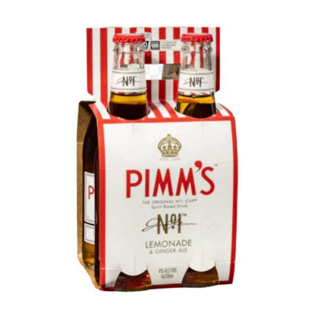 Pimm's No. 1 Cup RTD 4 x 330ml Bottles