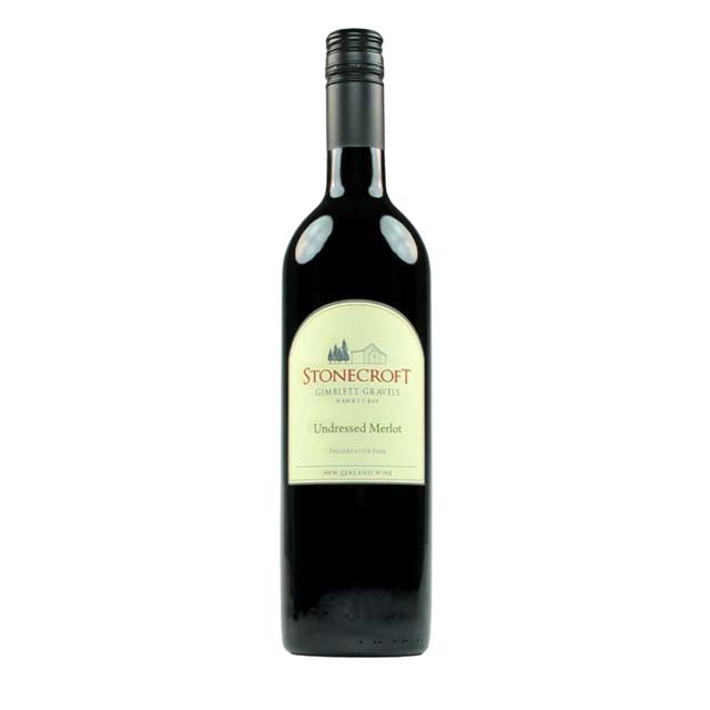 Stonecroft Gimblett Gravels Undressed Merlot 750ml