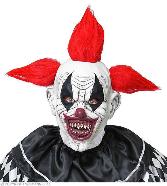 Masque latex adulte clown terrifiant
