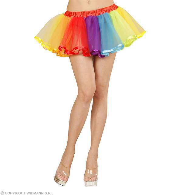 Costume adulte tutu arc-en-ciel