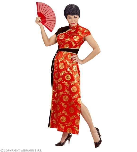 Costume adulte chinoise rouge & or
