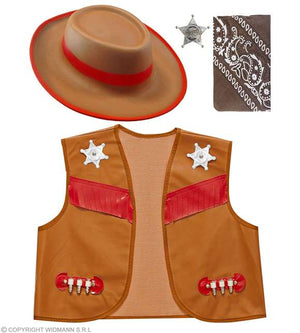 Set enfant 8-10 ans cow-boy brun