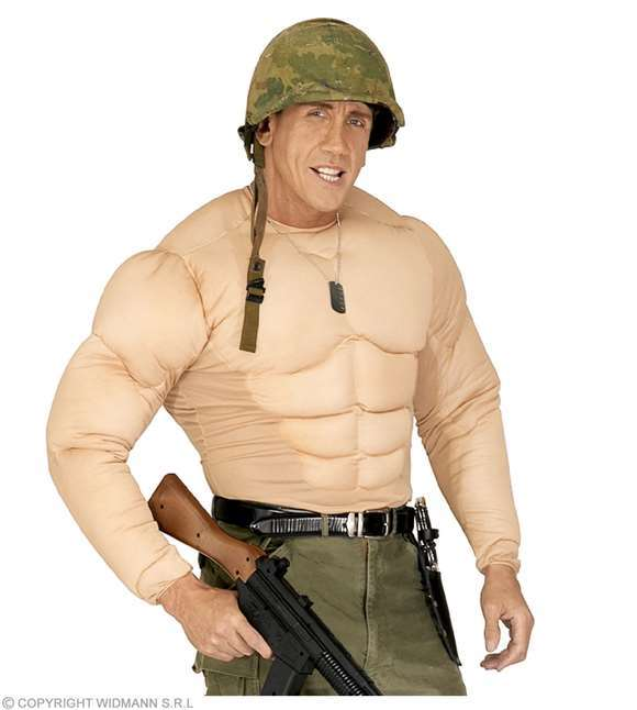 Costume adulte faux muscles