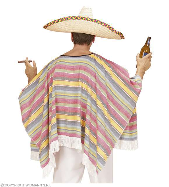 Costume adulte poncho mexicain M/L