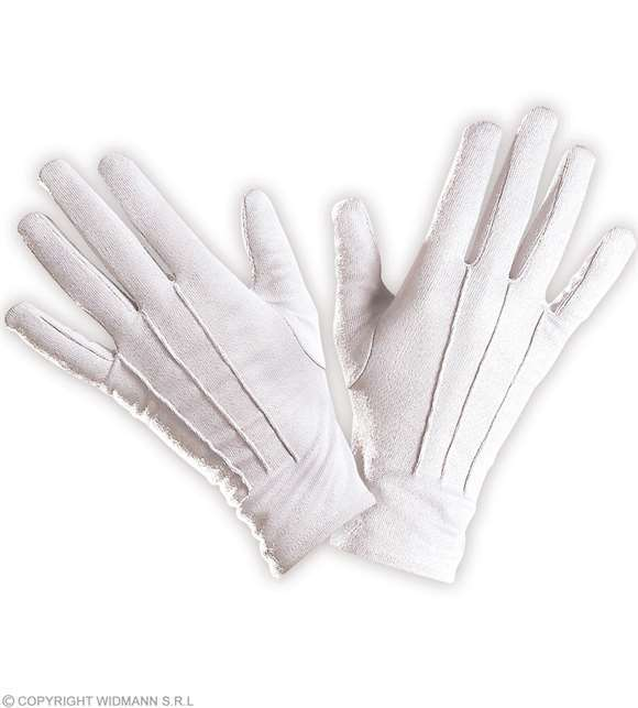 Gants blancs en coton - adulte
