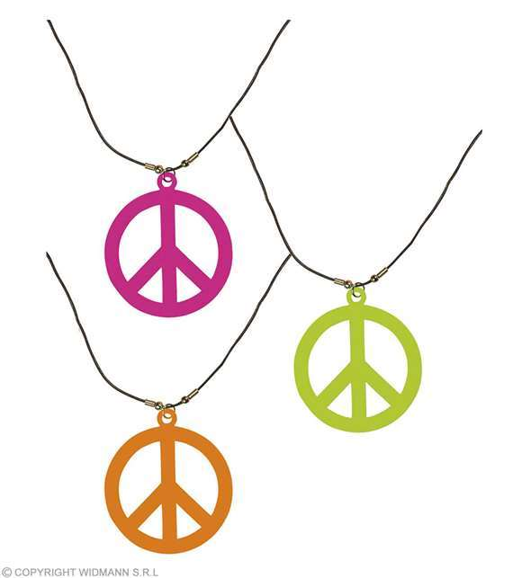 Collier hippie fluo UV