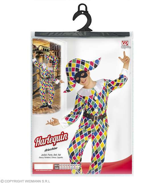 Costume enfant clown arlequin