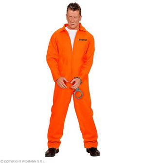 Costume adulte prisonnier orange