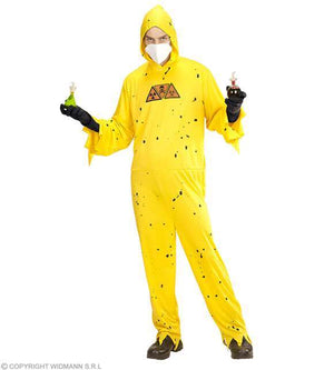 Costume adulte scientifique zombie jaune