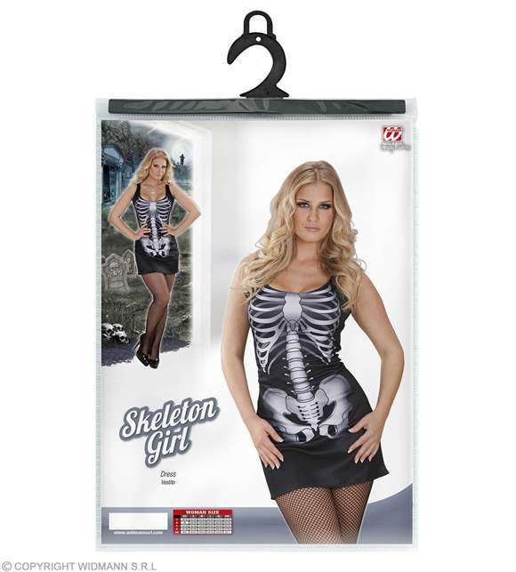 Costume adulte robe femme squelette