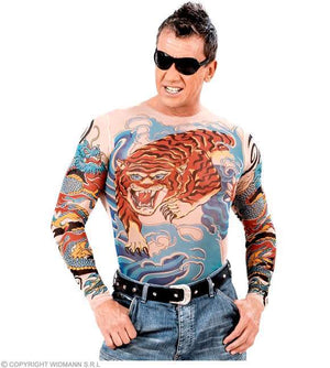 T-shirt tatouage tigre et dragon - adulte