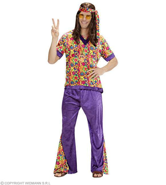 Costume adulte homme hippie velours