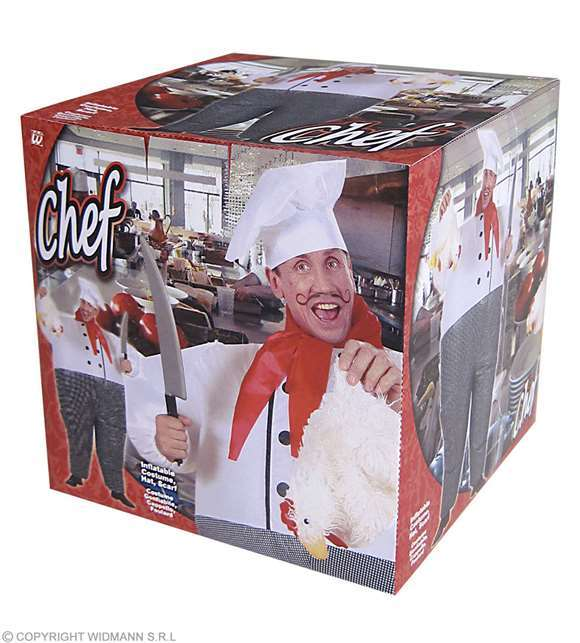 Costume adulte chef cuisinier gonflable