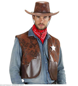 Costume adulte gilet de cow-boy M/L
