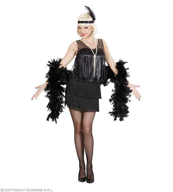 Costume adulte robe Charleston flapper noir