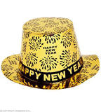 Chapeau haut-de-forme doré Happy New Year