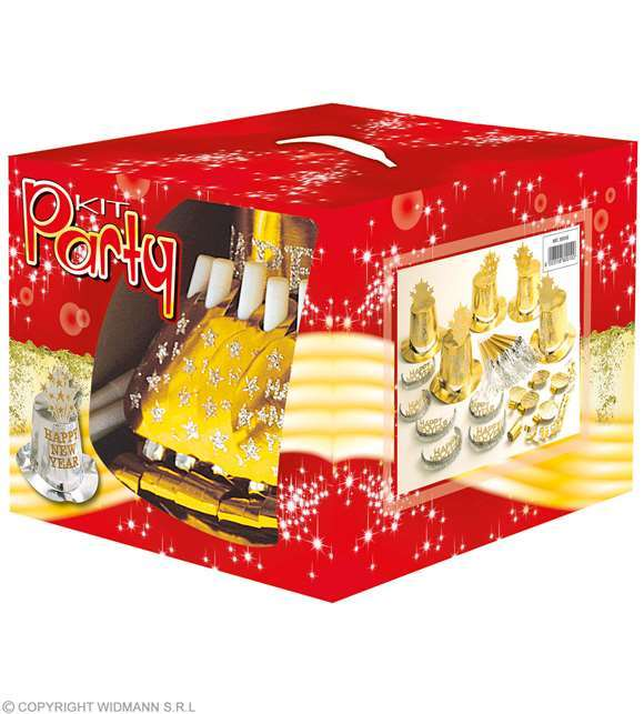 "Party kit Cotillons 10 personnes - Or - ""Happy New Year"""