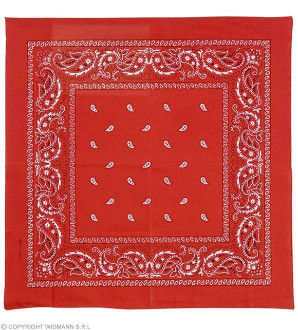 Bandana cow-boy rouge 55 x 55 cm