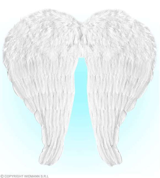 Ailes blanches plumes ange 67x64 cm