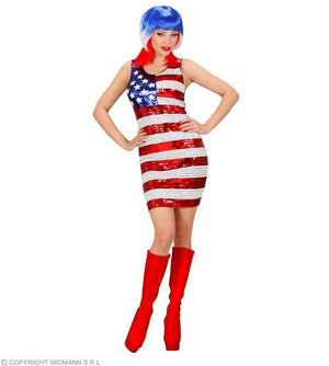 Costume adulte robe drapeau US