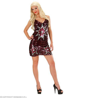 Costume adulte robe disco star