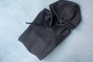 Ever So Salty Charcoal Organic Hoodie