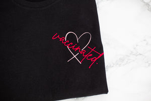 Vaccinated Heart Design - Ladies fit