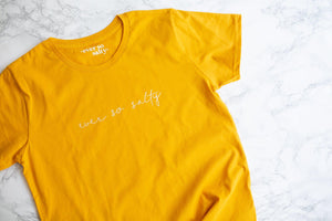 Ever so salty golden yellow - Cystic Fibrosis charity t-shirt